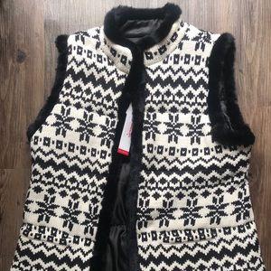 Talbots Snowflake Sweater Vest